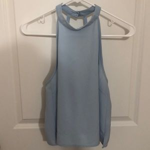 F21 cut out halter top